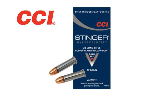 <b>(Store Pickup only)</b><br> CCI 22LR Stingers, CPHP, 1640 fps, Box of 50 #0050