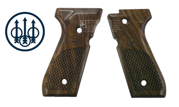 Beretta Select Walnut Oval Pistol Grips for Beretta 92FS, 92A1, and 96A1 Pistols #E00219