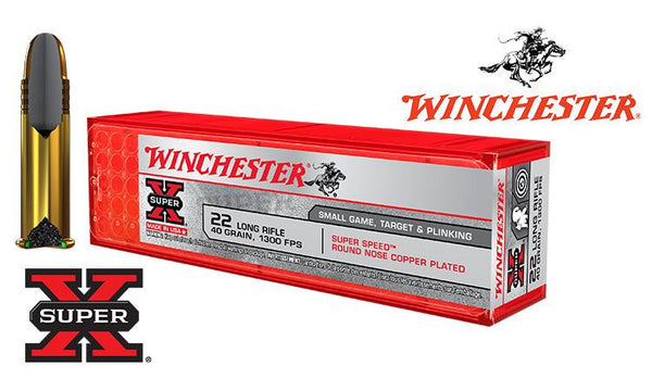 <b>(Store Pickup Only)</b><br>Winchester .22LR Super X, 40 Grain FMJ, 1300 FPS, 100 Round Box #X22LRSS1