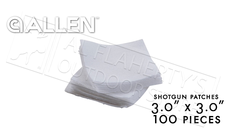 "Allen Cotton Cleaning Patches 3.0"", Pack of 100 #70761"