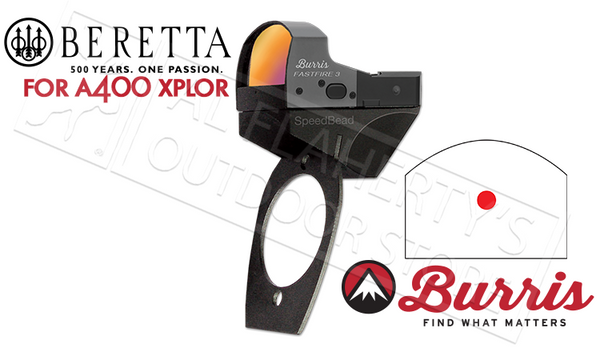 Burris SpeedBead Fasfire Reflex Sight Beretta A400 Xplor Mount + Sight #300253