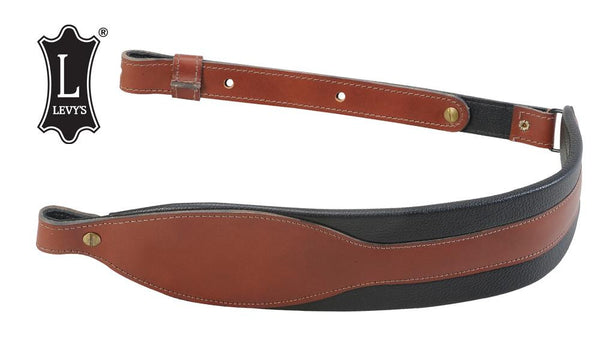 "Levy's Leathers 3"" Heavy Duty Leather Rifle Cobra Sling, 30""-38"", Walnut #SN81-WAL"