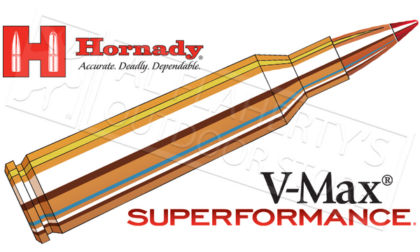 Hornady #83366 22-250 Rem Superformance, V-Max 50 Grain Box of 20