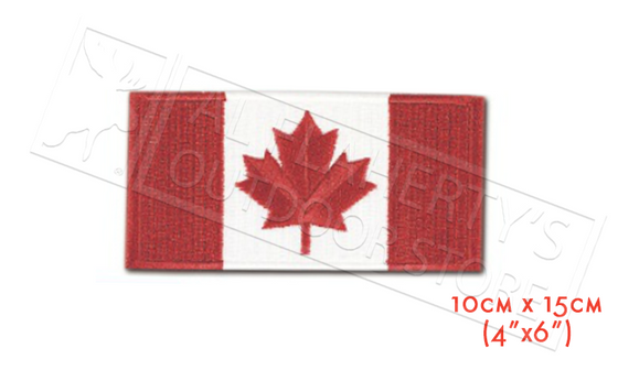 "Canada Flag Embroidered Patch, 4""x6"" #255C"