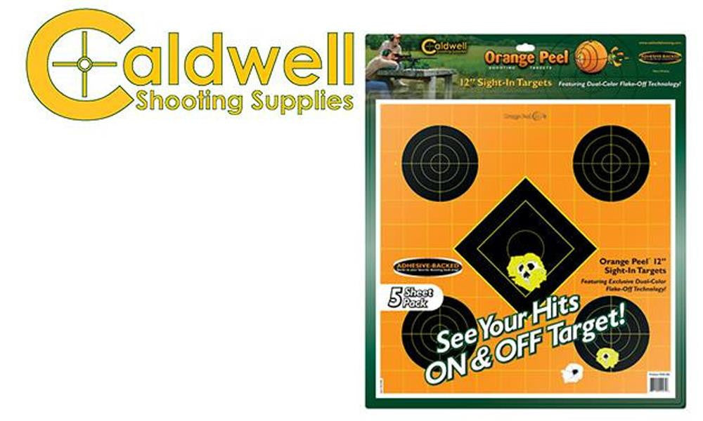 "Caldwell Orange Peel Sight-In 12"" Target Pack of 5 #244561"