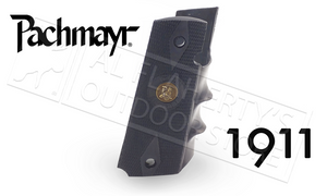 Pachmayr #05008 1911 Combat Gripper Rubber Grip with Finger Grooves