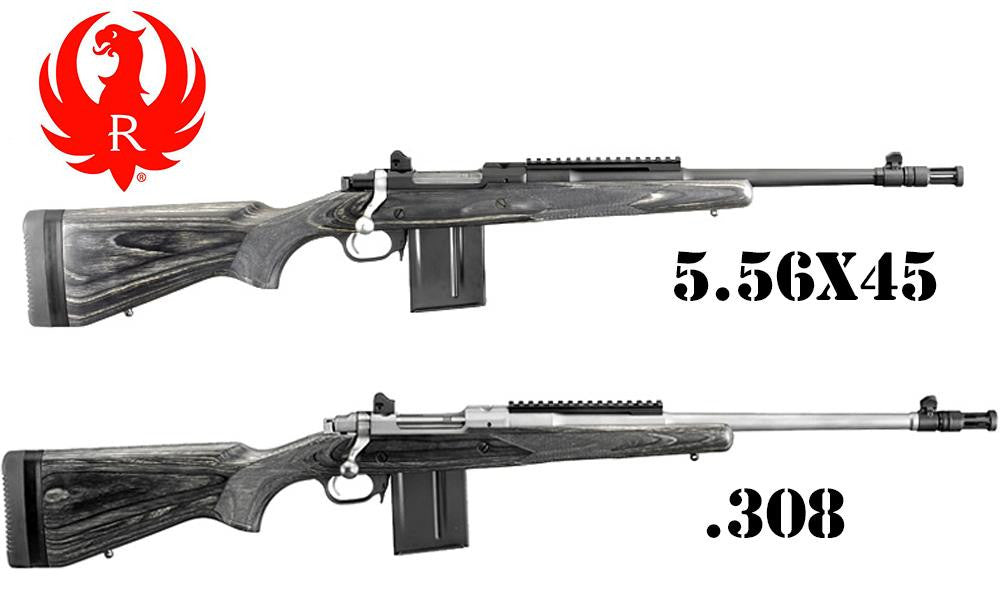 Ruger Gunsite Scout 5.56x45 and .308 - #6824 & #6822