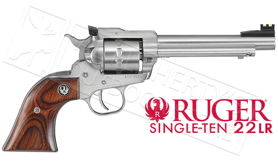 "Ruger Single-Ten Revolver, Stainless Steel .22LR 5.5"" Barrel #8100"