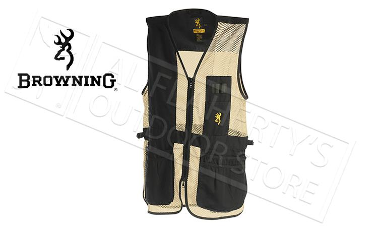 Browning Trapper Creek Mesh Shooting Vest, Black & Tan  #30502689