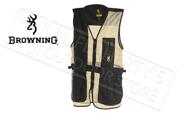 Browning Trapper Creek Mesh Shooting Vest, Sand/Black #305026890