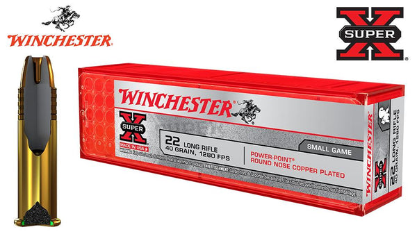 <B>(Store Pickup Only)</b><br>Winchester Super X, 22LR, 40 Grain Power Point, 1280FPS #X22LRPP1