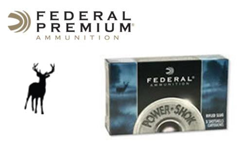 "<b>(Store Pickup Only)</b><br> 12 Gauge - Federal Power Shok Magnum Buckshot Shells, 3"" 00-Buck, Box of 5 #F13100"