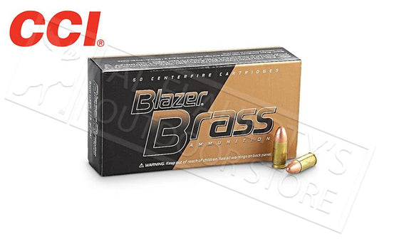 <b>(Store Pickup Only)</b><br> CCI Blazer Brass 9mm, 124 Grain FMJ, Box of 50 #5201