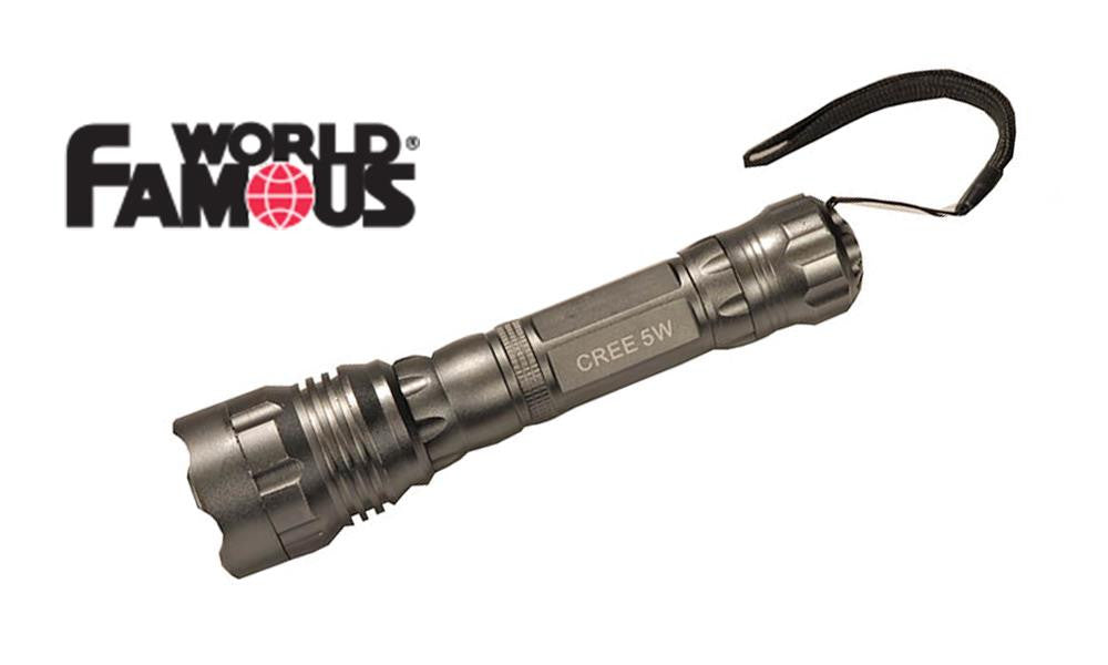 World Famous 3 Watt Cree LED Flashlight with Lanyard #2402