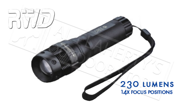 #2406 - Rockwater Designs Tak-Lite Focusing Flashlight LED CREE 230 Lumen