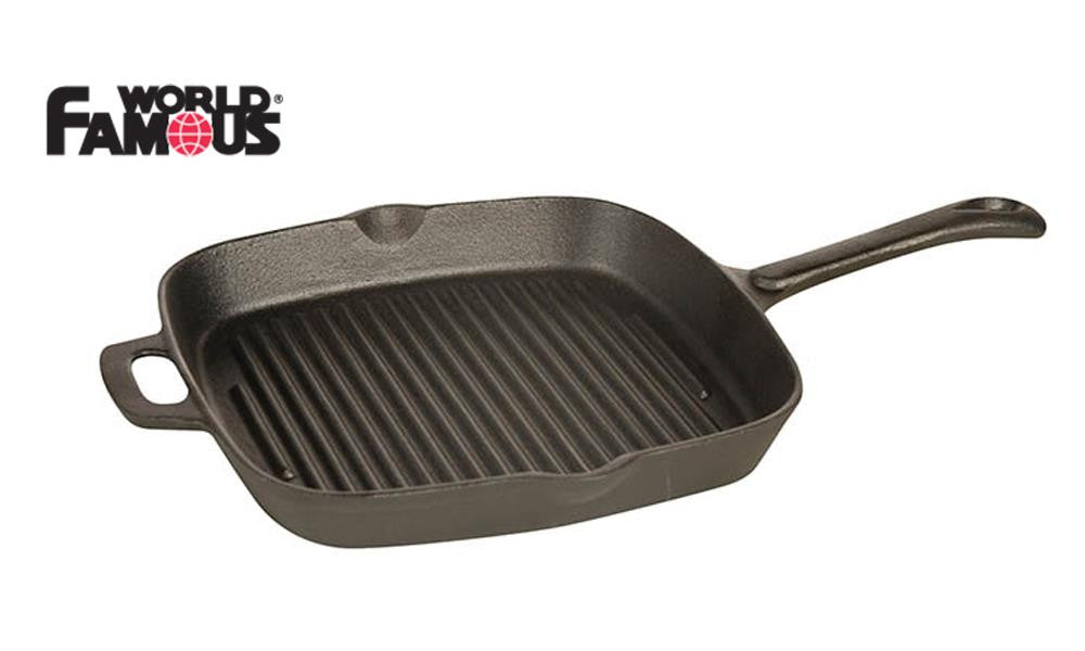 "World Famous Cast Grill Pan, 9"" #1347"