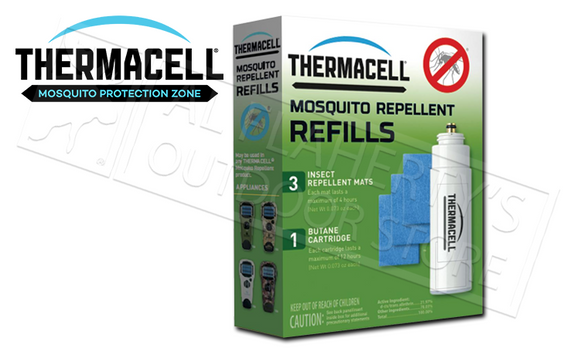 ThermaCELL Mosquito Repeller Refill - Single Pack, 3 Mats & 1 Butane Cartridge #R1