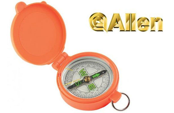Allen Pocket Compass with Lid Blaze Orange 487
