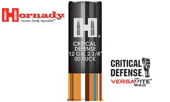 "<b>(Store Pickup Only)</b><br>12 Gauge Hornady Critical Defense Buckshot, 2-3/4"" #00 Buck #86240"