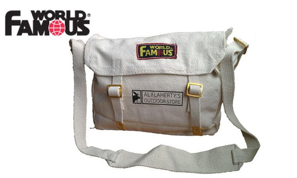 World Famous Web Haversack Bag, White #WH2