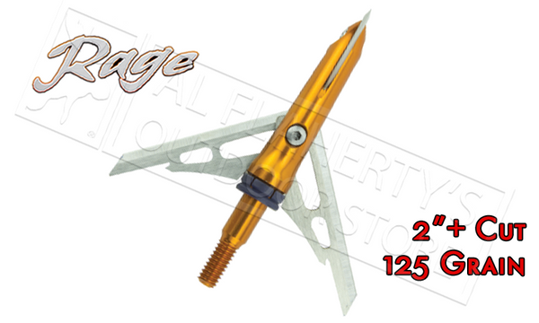 "Rage SlipCam Crossbow X-Blade Mechanical Broadheads, 2""+ Cut 125 Grain Pack of 3 #54000"