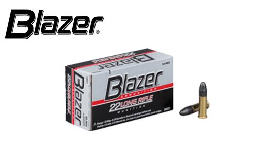 Blazer .22LR Target Ammunition, 40 Grain, High Velocity, Pack of 50 #00021