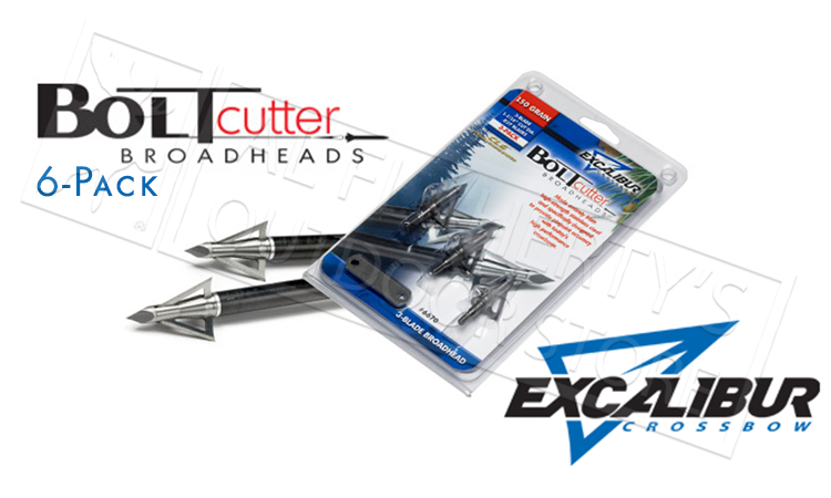 Excalibur Crossbow #6674 BoltCutter Broadheads 6-Pack