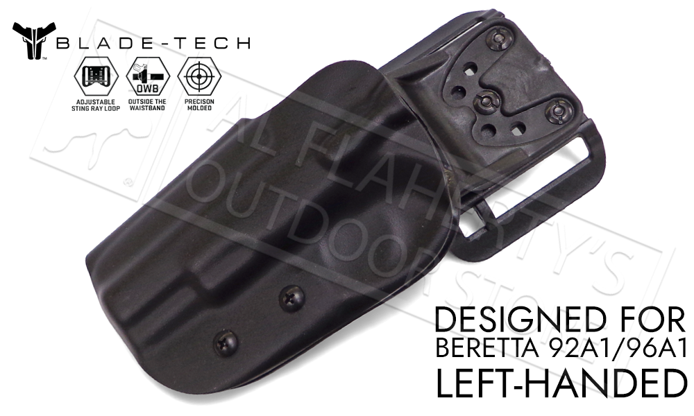 Blade-Tech Original Holster for Beretta 92A1 and 96A1, Left-Handed D/OS with ASR Mount #HOLX000839143042