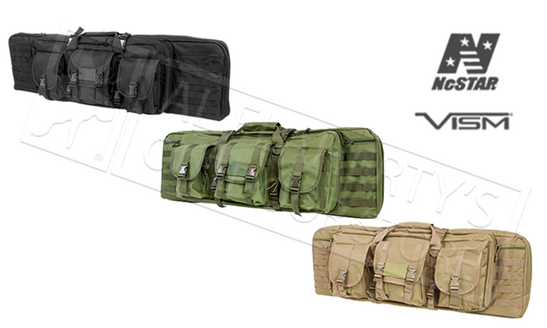 NcStar VISM Double Carbine Case with Backpack Straps #CVDC2946
