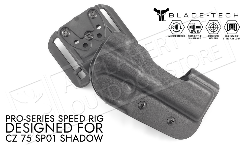 Blade-Tech Pro-Series Speed Rig Holster for CZ 75 SP-01 Shadow, D/OS with Sting Ray Loop #HOLX001379419144