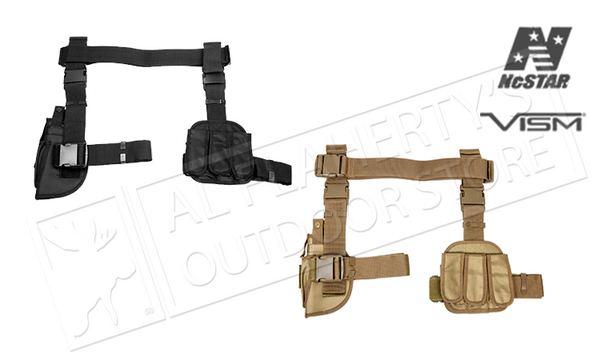 NcStar VISM Drop Leg 3-Piece Holster and Magazine Pouch, Black or Tan #CV2908 #CV2908T