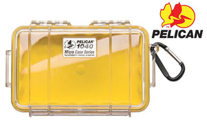Pelican 1040 Micro Case, Clear with Yellow Liner