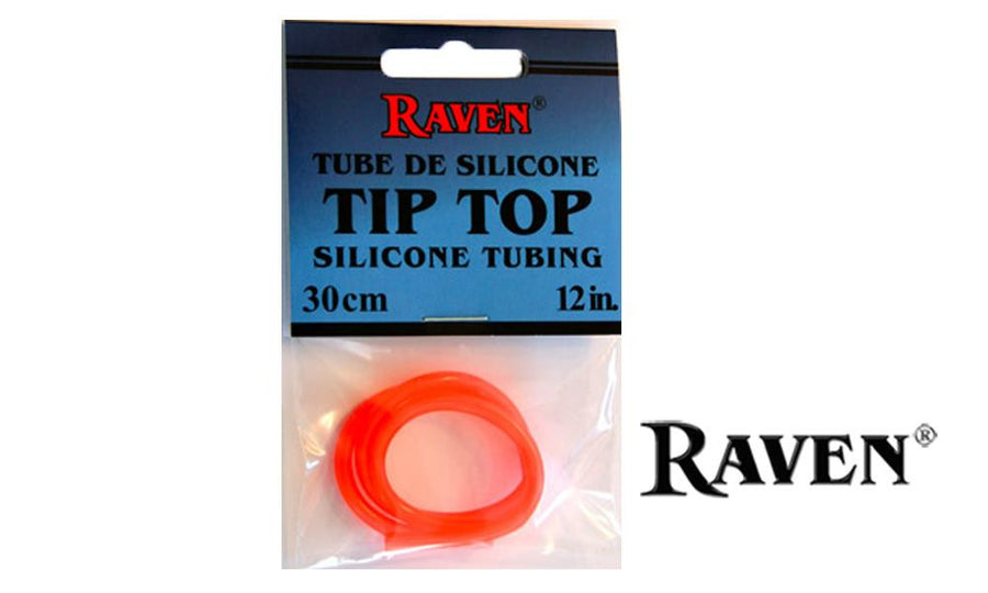 "Raven Tip Top Silicone Tubing, Fluorescent Orange 3/32"", 12 Inches #RVSTTT"