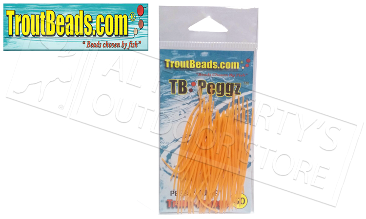 TroutBeads.com TB Peggz, Orange, Pack of 50 #TBPG-OR