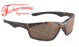 Fisherman Eyewear Polarsensor Delta Polarized Sunglasses, Crystal Brown Tortoise with Brown Lens #96100735