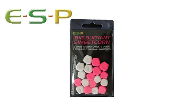 ESP Bait Big Buoyant Artificial Sweetcorn, Pink & White, ESCORN-P