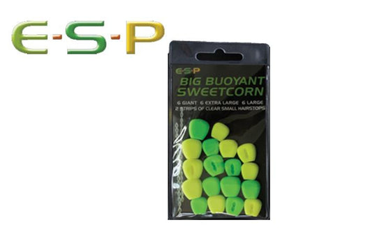 E-S-P Big Buoyant Sweetcorn, Artificial, Green & Yellow, 18 Kernels #ESCORN-G