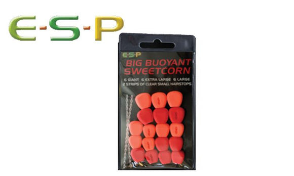 E-S-P Big Buoyant Sweetcorn, Artificial, Red & Orange, 18 Kernels #ESCORN-R