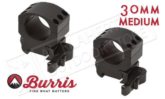 Burris XTR Xtreme Tactical Scope Rings, Quick Detach, Medium, 30mm #420157