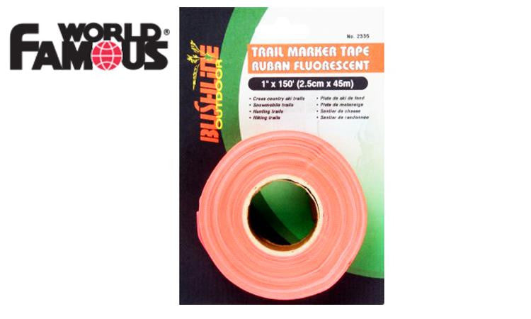 WFS Trail Marker Tape, High Visibility Orange, 150 ft Roll #2335