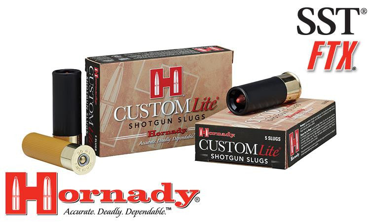 "<b>(Store Pickup Only)</b><br> 12 Gauge - Hornady Custom Lite FTX Sabot Slugs, 2-3/4"" Box of 5 #86230"