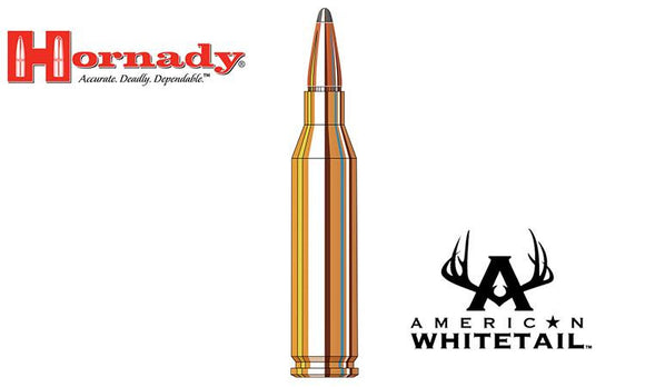 <b>(Store Pickup Only)</b><br>Hornady 243 WIN American Whitetail Interlock BTSP, 100 Grain, Box of 20 #8047