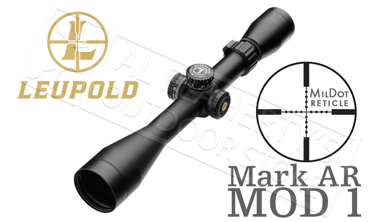 Leupold Mark AR MOD 1 Scope 3-9x40mm with Mil-Dot Reticle and P5 Turrets #115390