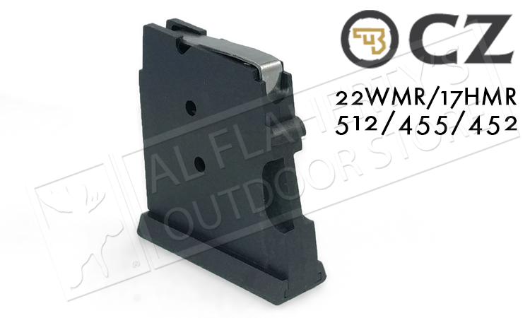 CZ 512/455 Magazine, .22WM or .17HMR 5-Round Polymer #5073-1000-8802ND
