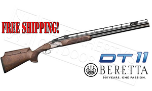 "Beretta DT11 XTrap 12 Gauge, 32"" Barrel, 3"" Chamber with Adjustable Stock"