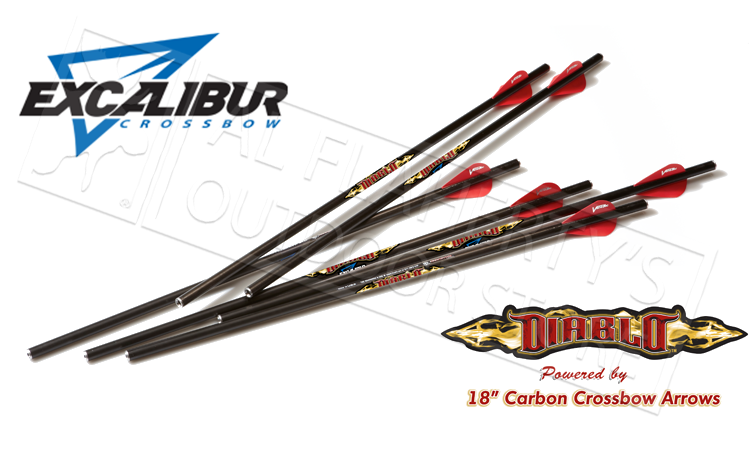 "Excalibur Matrix Diablo 18"" Carbon Arrows 6-Pack 22DV18-6   22DV18"