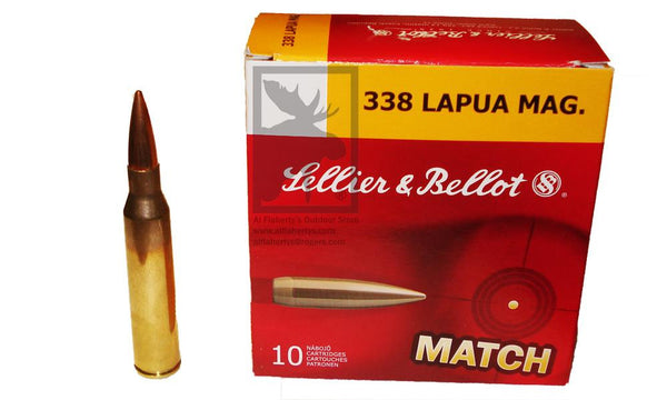 Sellier & Bellot Match .338 Lapua Magnum, 250 Grain, 10-Rounds HPBT #2650