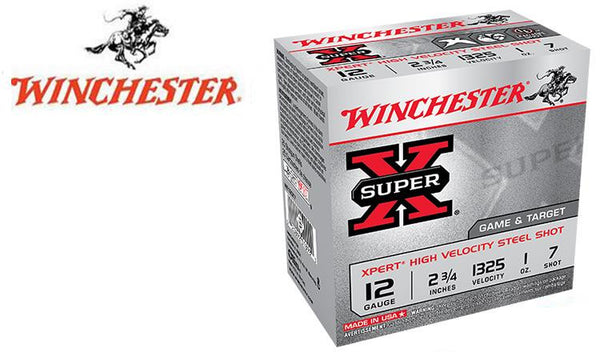 "<b>(Store Pickup Only)</b><br> 12 Gauge, Winchester Super X Xpert High Velocity Waterfowl Shells, 2-3/4"" #6 or 7-1/2 Shot, 1 oz., 1325 FPS, Box of 25"