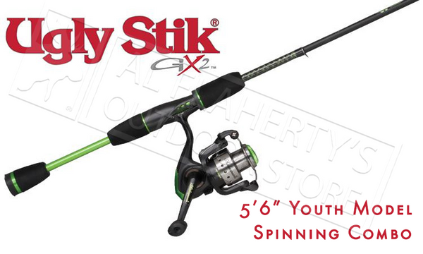 "Ugly Stik GX2 Spinning Youth Combo, 5'6"" Rod #USYTHSP30CBO"
