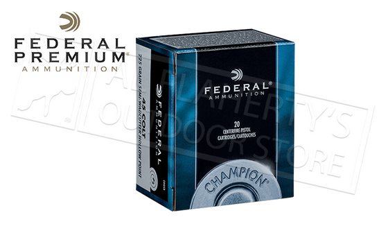 Federal 45LC Champion, Semi-Wadcutter HP 225 Grain Box of 20 #C45LCA